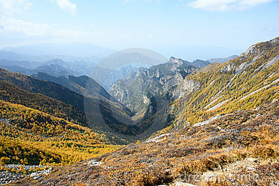 Scenery of Taibai Mountain