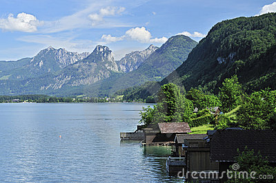 Scenery at Wolfgangsee