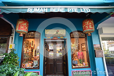 Scenes around Singapore - Peranakan Museum Editorial Stock Photo
