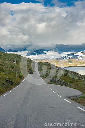 Scenic 55 Road, Norway Stock Photo - Image: 29050840