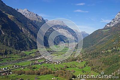 Scenic Alpine valley