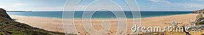 Scenic beach in Cornwall