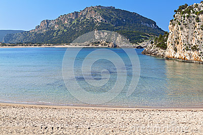 Scenic beach at Pylos of Greece