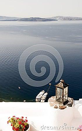 Scenic caldera oia  santorini greek island