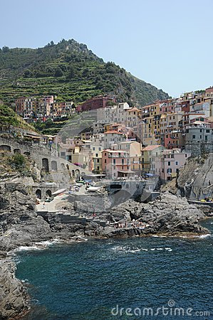 Scenic coastal village of Manorola, Italy