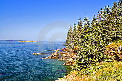 Scenic coastline of Maine