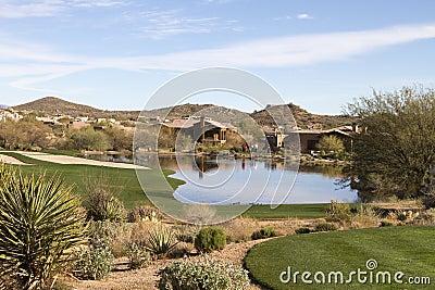 Scenic desert landscape at Arizona golf course