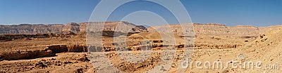 Scenic desert landscape in Negev desert