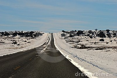 Scenic drive through the desert