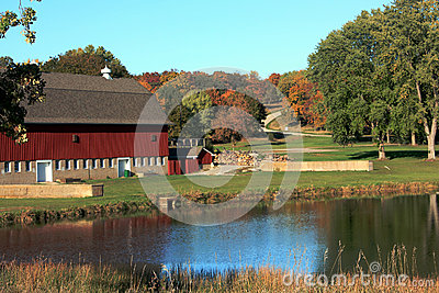 Scenic Farm in Autumn