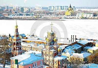 Scenic February view Nizhny Novgorod