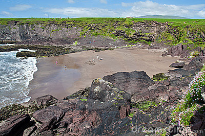 Scenic irish coastal beach seascape landscape
