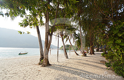 Scenic Island Beach Stock Photo - Image: 24620830