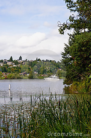 Scenic lake by Seattle