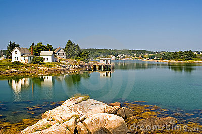 Scenic Maine fishing village