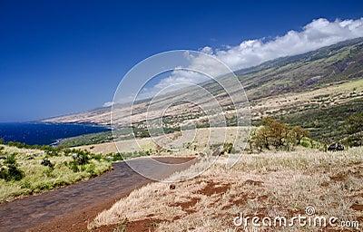 Scenic Maui Island s coastline, Hawaii