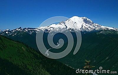Scenic Mount Rainier in Washington state