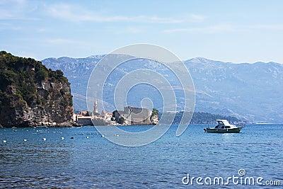 Scenic mountain coastline