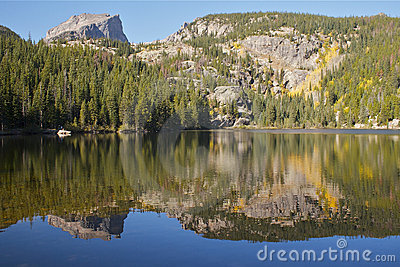Scenic Mountain Lake in Fall