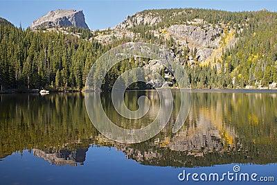 Scenic Mountain Lake in Fall