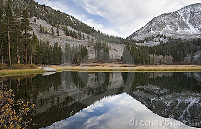 Scenic mountain lake,High Sierra lake