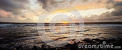 Scenic ocean sunset