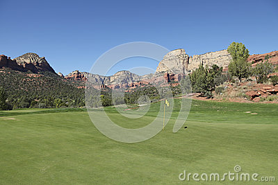 Scenic Red Rock Golf Hole