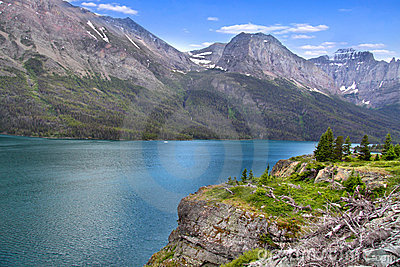 Scenic Saint Mary lake