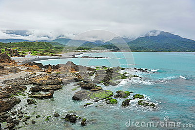 Scenic San Xian Tai tourist attraction in Taiwan