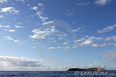 Scenic Sky over Molokini Crater