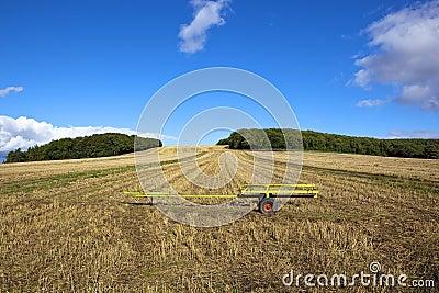 Scenic stubble field