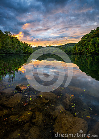 Free Scenic Sunset, Mountain Lake, Kentucky Royalty Free Stock Images - 73692169