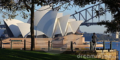 Lookout point at Sydney Opera House scenery Editorial Image