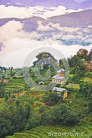 Scenic Tibetan landscape