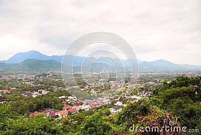 Scenic view across Luang Prabang