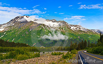 Scenic View Alaska Highway