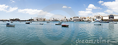 Scenic view of Arrecife lagoon