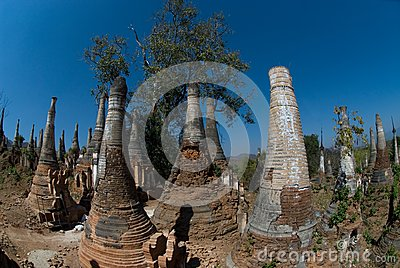 Scenic view of buddhist pagodas , Myanmar 2.