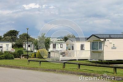 Scenic view of caravan trailer park