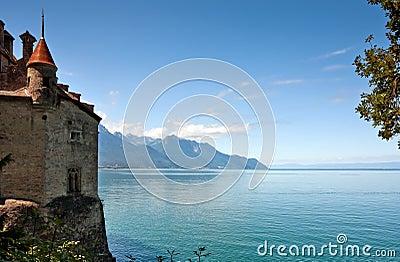 Chillon castle and Lac Leman, Montreux - Switzerland
