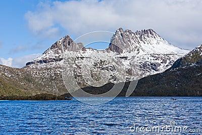 Scenic view of Cradle Mountain, Tasmania