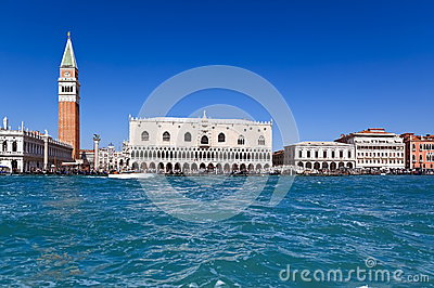 Scenic view of the Doge Palace, Venice (Italy)