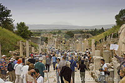 Scenic view of Ephesus site Editorial Photo