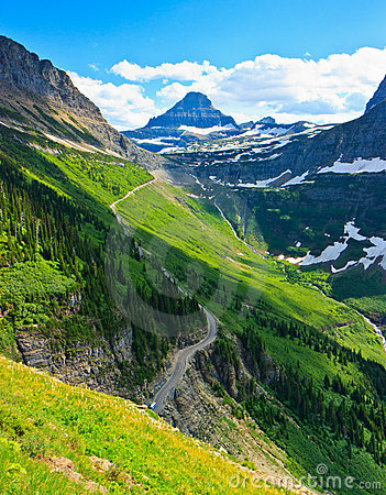 Scenic View, Highline Trail, Glacier National Park
