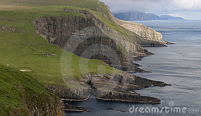 Scenic view of Mykines