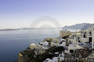 Scenic view of Oia village