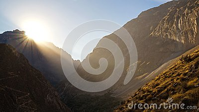 Scenic view over the Colca Canyon, Peru. Stock Photo