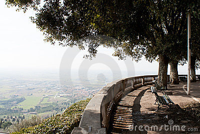 Scenic view point over Umbria