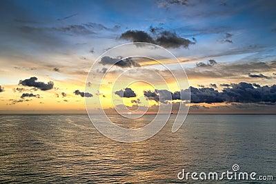 Beautiful view of sunrise in Atlantic ocean
