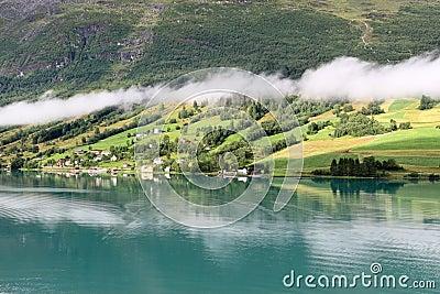 Coastal landscape in Nordfjord, Olden - Norway - Scandinavia